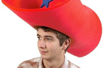 Cappello gigante per feste da Cow Boy