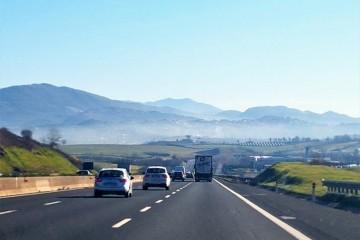 Paesaggi del Lazio Autostrada A1 verso Valmontone